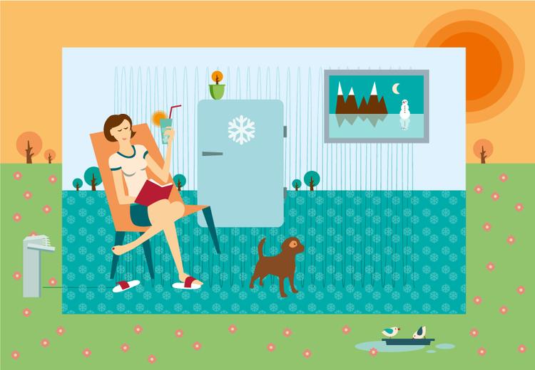 k hlen im sommer mit der acalor luftw rmepumpe. Black Bedroom Furniture Sets. Home Design Ideas
